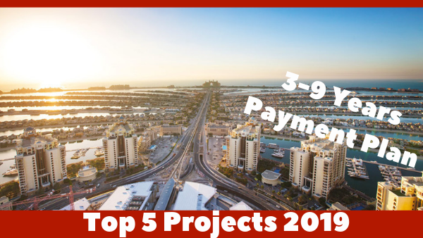 Top 5 payment plan projects in Dubai 2019