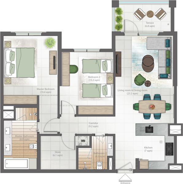 2 bedroom type D hyati Avenue