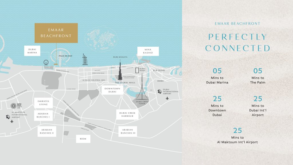 EMAAR Beachfront Location
